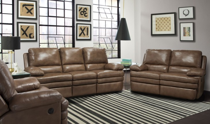 Meyer Saddle Dual Power Reclining Living Room Set