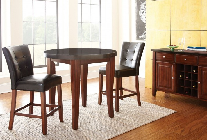 Granite Bello Round Counter Height Dining Room Set