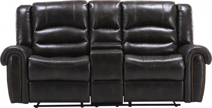 Gershwin Ember Dual Power Reclining Console Loveseat