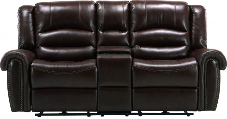 Gershwin Java Dual Power Reclining Console Loveseat