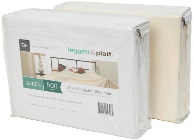 Microfiber White Full Size Sheet