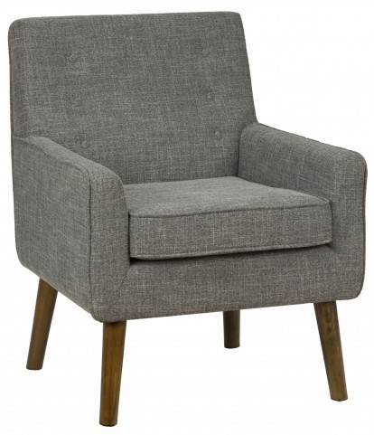 Mila Mod Charcoal Grey Accent Chair