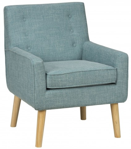 Mila Mod Peacock Blue Accent Chair