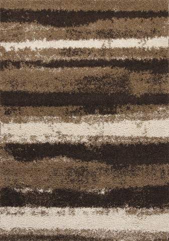Milo Brown/Cream Airbrush Stripes Large Rug
