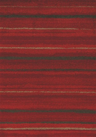 Milo Red/Brown Airbrush Stripes Large Rug
