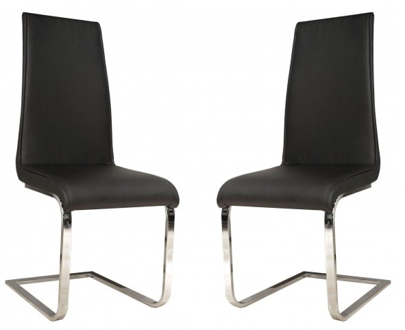 Regis Milo Black Dining Chair Set of 2