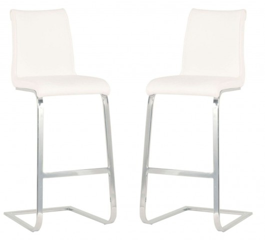 Regis Milo White Barstool Set of 2