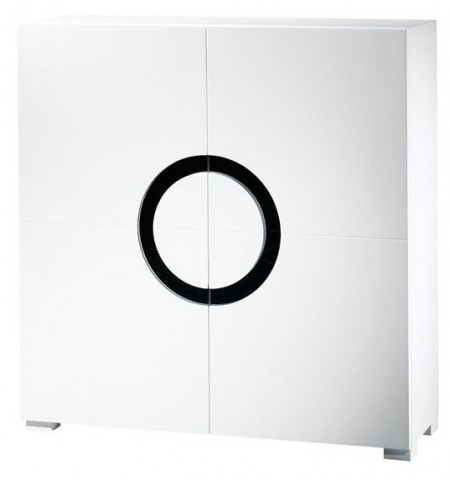 Miranda White Gloss 2 Door Cabinet