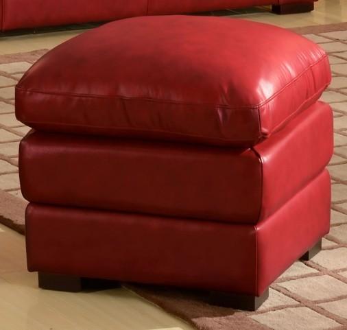 Mirella Red Ottoman