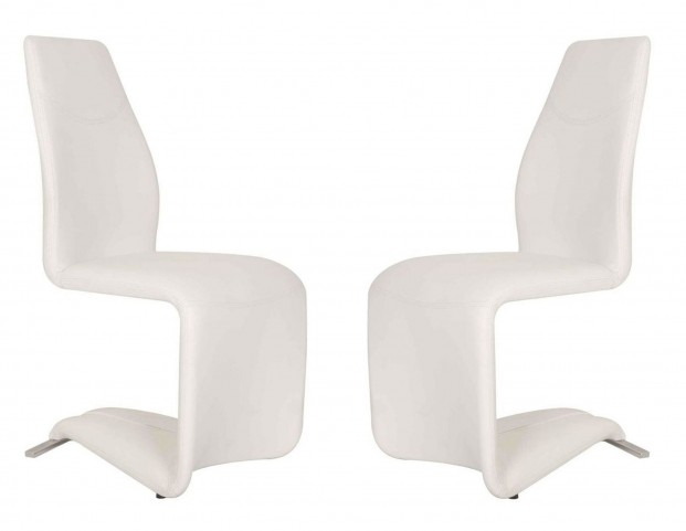 Regis Mobi White Dining Chair Set of 2