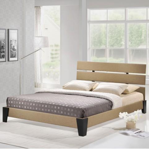 Zoe Latte Queen Fabric Bed