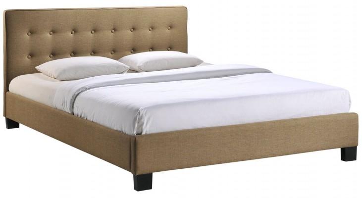 Caitlin Latte Queen Fabric Bed