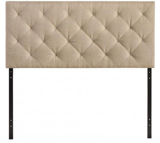 Theodore Beige Queen Fabric Headboard