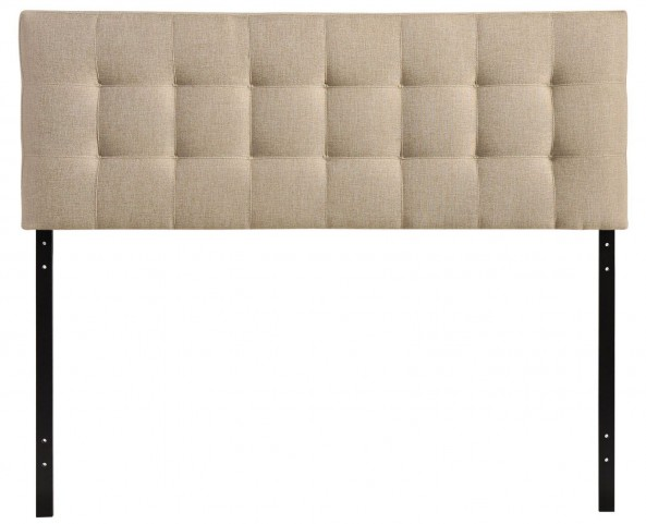Lily Beige Queen Fabric Headboard