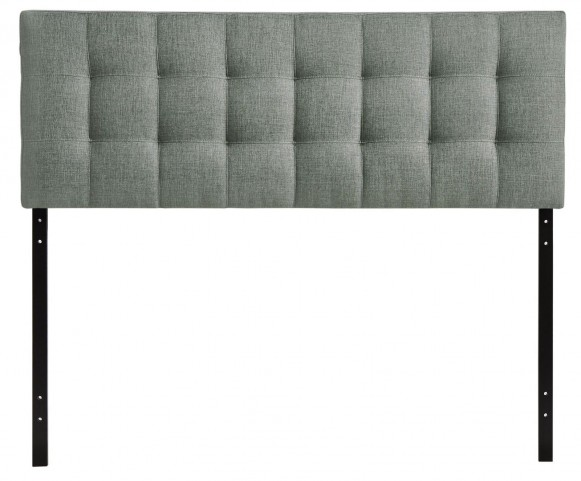Lily Gray Queen Fabric Headboard