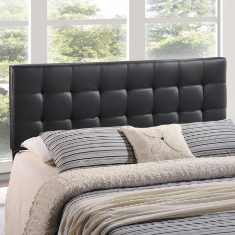 Lily Queen Black Vinyl Headboard