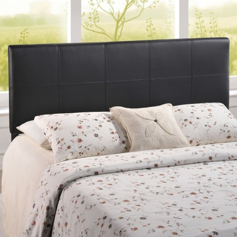 Oliver Black Queen Vinyl Headboard
