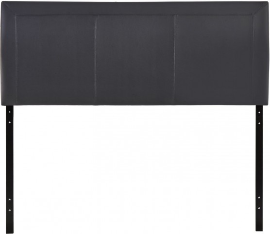 Isabella Black Queen Vinyl Headboard