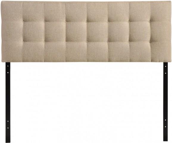 Lily Beige King Fabric Headboard