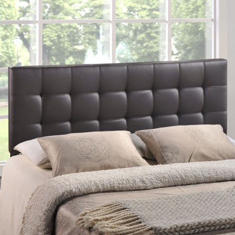 Lily Brown King Vinyl Headboard