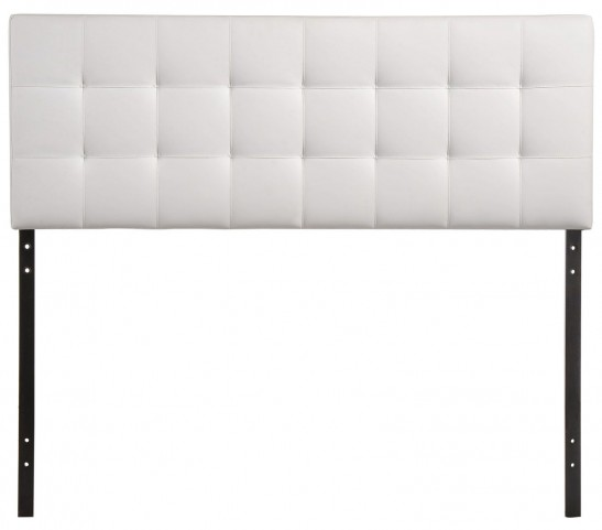 Lily White King Vinyl Headboard