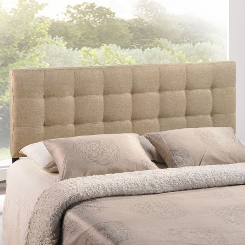 Lily Beige Full Fabric Headboard