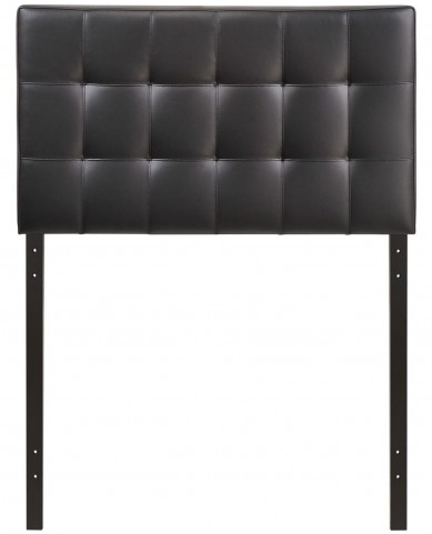 Lily Black Twin Vinyl Headboard