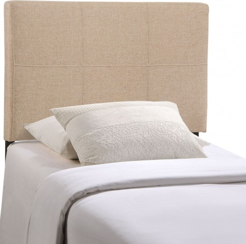 Oliver Beige Twin Fabric Headboard