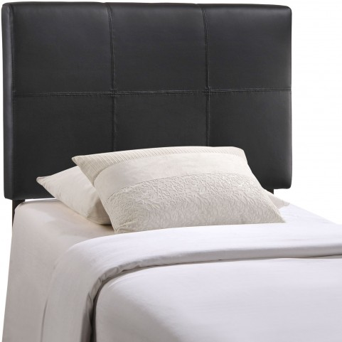 Oliver Black Twin Vinyl Headboard