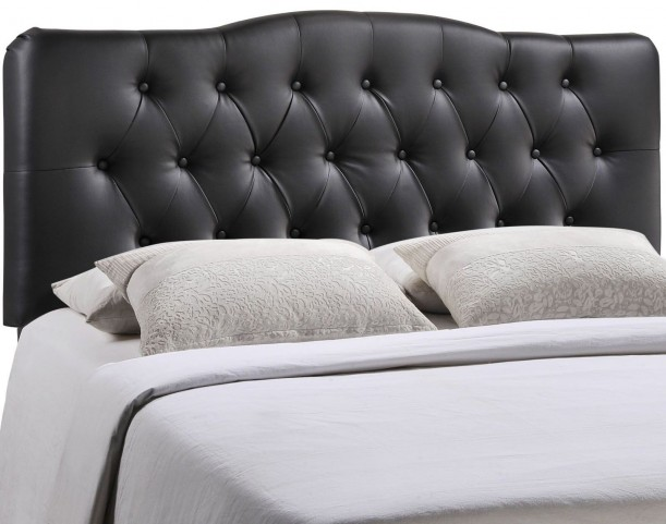 Annabel Black Queen Vinyl Headboard