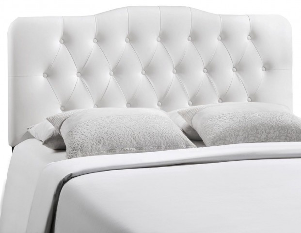 Annabel White King Vinyl Headboard