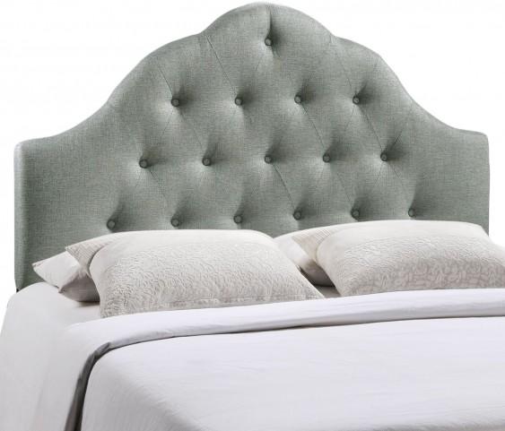 Sovereign Gray Queen Fabric Headboard