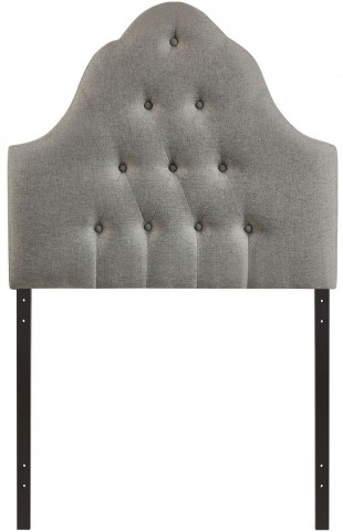 Sovereign Gray Twin Fabric Headboard