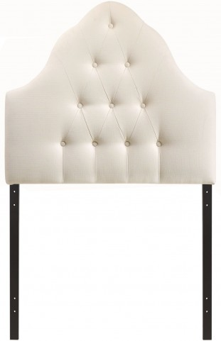 Sovereign Ivory Twin Fabric Headboard