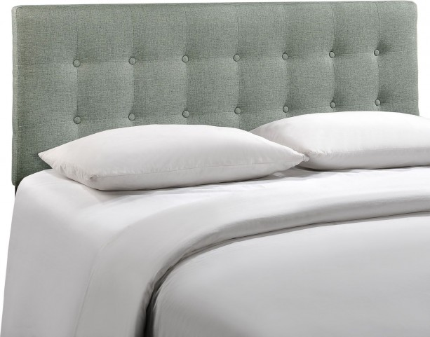Emily Gray Full Fabric Headboard