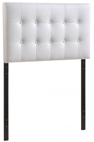 Emily White Twin Vinyl Headboard