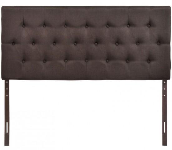 Clique Dark Brown Queen Headboard