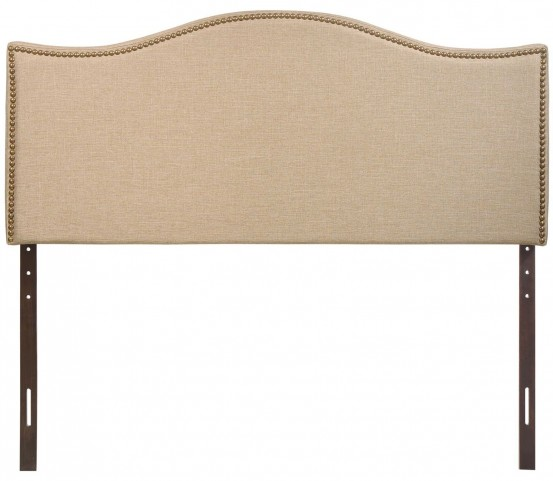 Curl Cafe Queen Nailhead Upholstered Headboard