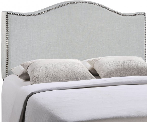 Curl Gray Full Nailhead Upholstered Headboard