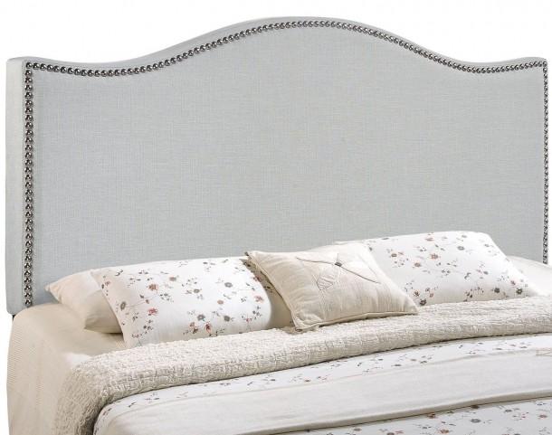 Curl Gray Full Nailhead Upholstered Headboard