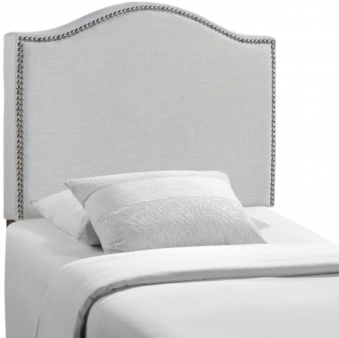 Curl Gray Twin Nailhead Upholstered Headboard