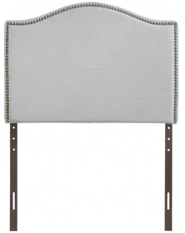 Curl Gray Twin Nailhead Upholstered Headboard