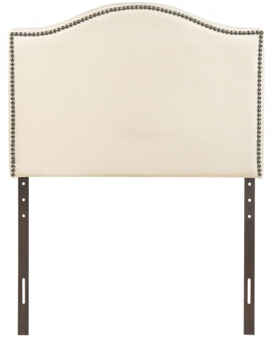 Curl Ivory Twin Nailhead Upholstered Headboard