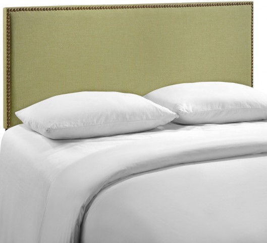 Region Green Queen Nailhead Upholstered Headboard