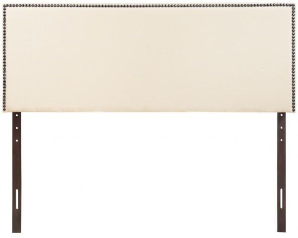 Region Ivory Full Nailhead Upholstered Headboard