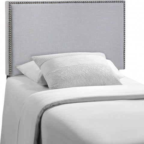 Region Gray Twin Nailhead Upholstered Headboard