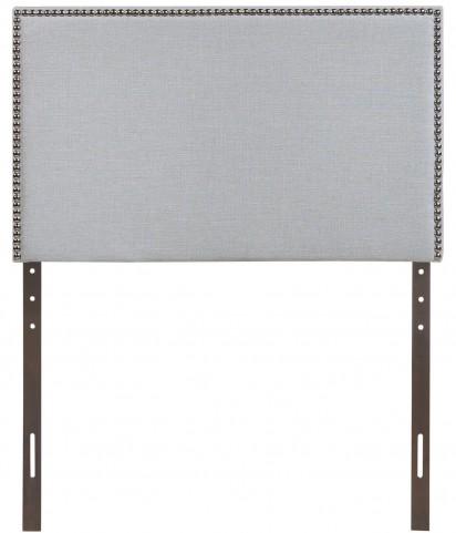 Region Gray Twin Nailhead Upholstered Headboard