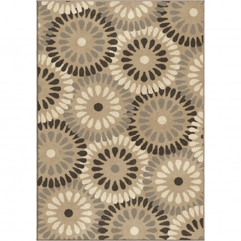 Springtime gray Large Rug