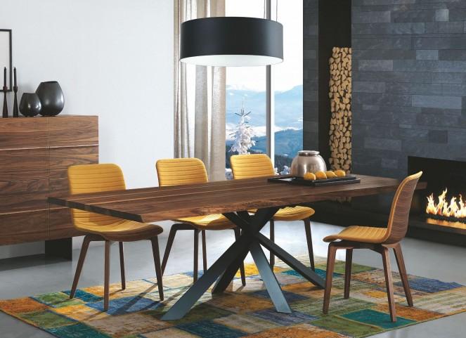"Montana Solid Walnut 71"" Rectangular Dining Room Set"