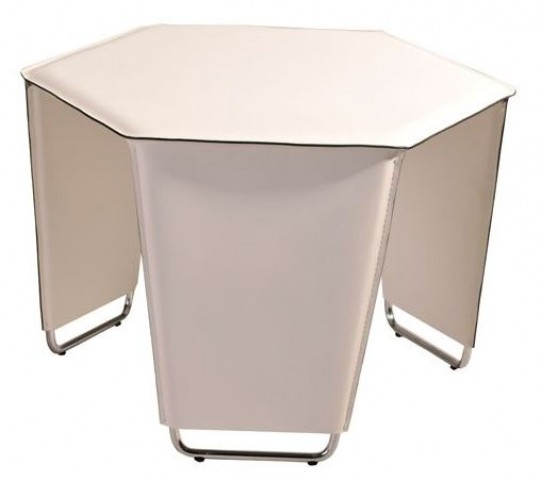 Movado Taupe Recycled Leather End Table
